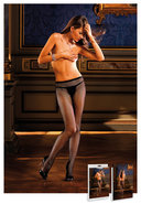 Diamond Pantyhose W/backseam (disc)