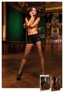 Control Top Diamond Net Pantyhose (disc)