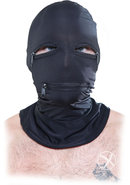 Fetish Fantasy Series Zipper Face Spandex Hood Black One...