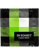 Sir Richards Classic Ribbed Textured Latex Condoms 12 Each...