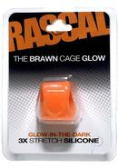 Rascal The Brawn Cage Glow 3x Stretch Silicone Cock Ring...