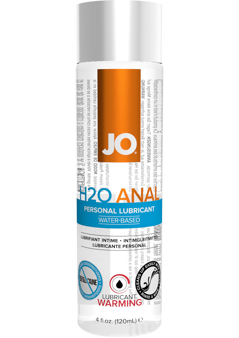 Jo H2o Warming Anal Water Based Lubricant 4 Ounce