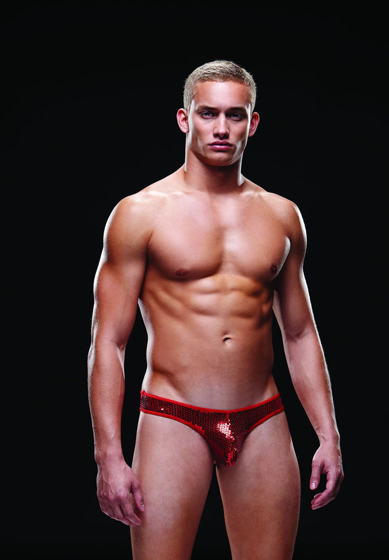 Sequin Low Rise Thong S/m Red (disc)