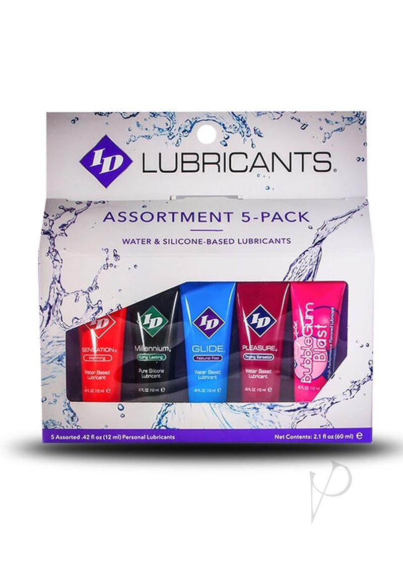 Id Sensual Lubricants Assortment 5 Pack